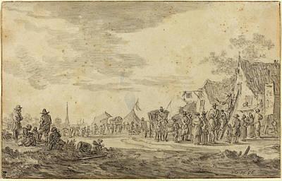 Jan Van Goyen Dutch, 1596 - 1656, Village Fair Art Print by Quint Lox