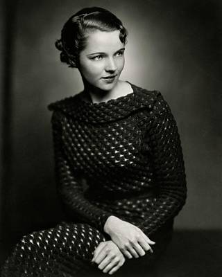 Jane Wyatt Wearing A Dress Art Print by Ben Pinchot