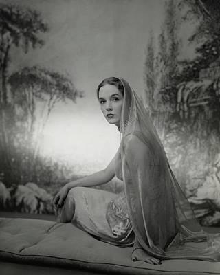 Rhinelander Photograph - Janet Newbold Wearing A Sari by John Rawlings
