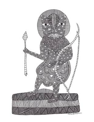 Gond Tribal Art Painting - Jangarh Singh Shyam 47 Limited Edition Prints by Jangarh Singh Shyam