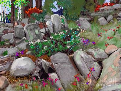 Prescott Mixed Media - Janie's Garden #4 by Craig Nelson