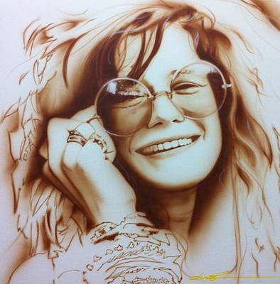 Flower Power Painting - Janis Joplin - ' Janis ' by Christian Chapman Art