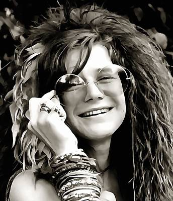 Celebrities Digital Art - Janis by Dan Sproul