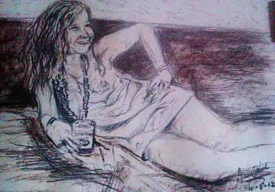 Janis Joplin Drawing - Janis by Fancy Woods