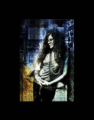 Gypsy Digital Art - Janis Joplin - Blue by Absinthe Art By Michelle LeAnn Scott