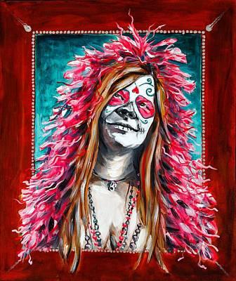 Janis Joplin Day Of The Dead Original by Jennifer Cahoon