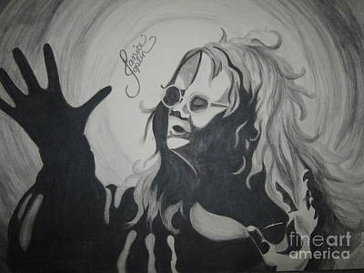Joplin Drawing - Janis Joplin by Jessie Simondi