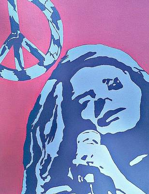 Painting - Janis Joplin by Lew Griffin