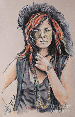 Singer Drawing - Janis Joplin by Melanie D