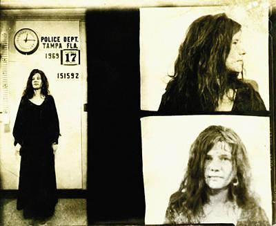 Janis Photograph - Janis Joplin Mugshot by Bill Cannon