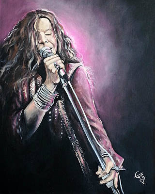 Janis Painting - Janis Joplin by Tom Carlton