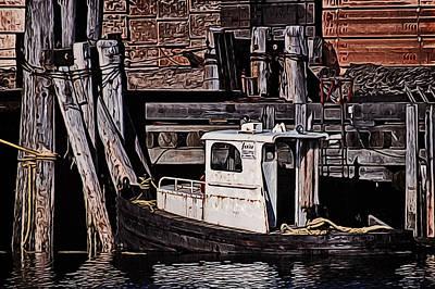 Loading Ship Digital Art - Janis by Richard Farrington