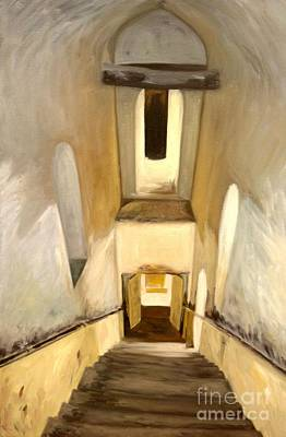 Painting - Jantar Mantar Staircase by Mukta Gupta