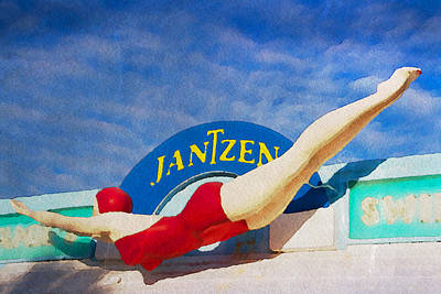 Photograph - Jantzen Diver by Alice Gipson