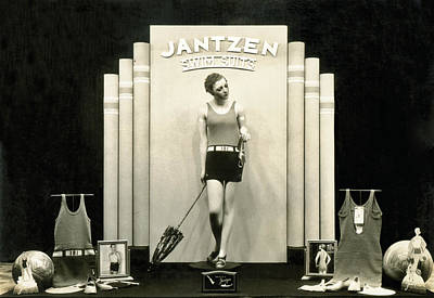 Jantzen Swim Suit Display Print by Underwood Archives