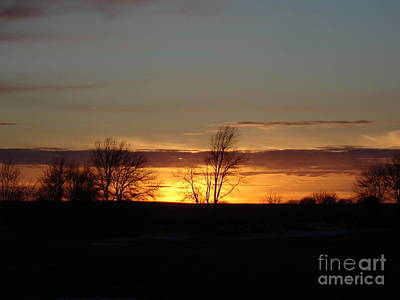January 13th Sunset Art Print by J L Zarek