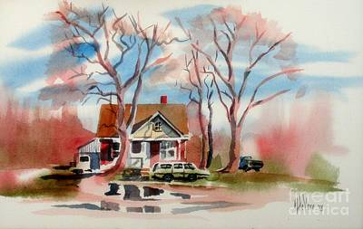 January Afternoon Art Print by Kip DeVore