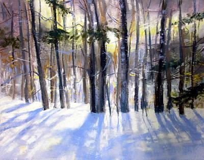 January Blues Art Print by Jeanne Rosier Smith