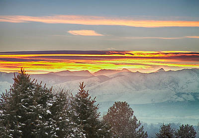 Photograph - January Colorado Rocky Mountain Sunset by James BO Insogna