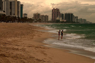 Photograph - January On Ft Lauderdale Beach by Paul Mangold