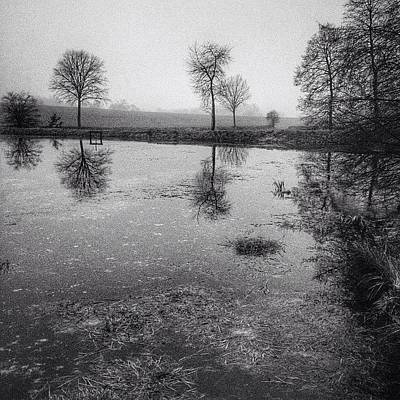 Iphone 4s Photograph - #january #reflections In #bw #morava by Jan Kratochvil