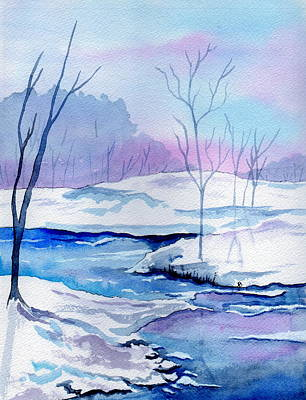January Snowscape Original by Brenda Owen