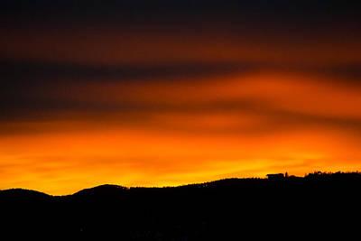 Photograph - January Sunset On The Black Hills by Dakota Light Photography By Dakota