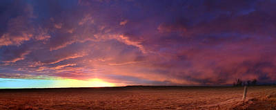 Photograph - January Sunset With Cold Front by Rod Seel