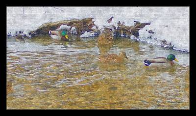 Painting - January Thaw At Riverside I by Rosemarie E Seppala