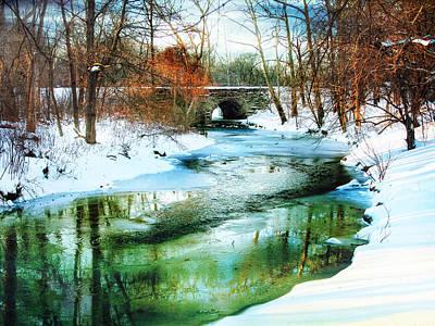 Snow Digital Art - January Thaw by Jessica Jenney