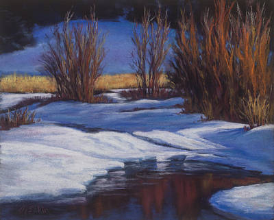 Painting - January Thaw by Marjie Eakin-Petty