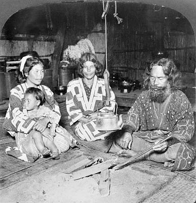 Of Toddlers Painting - Japan Ainu Family, C1906 by Granger