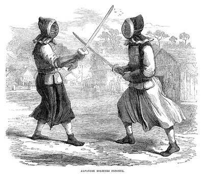 Fencing Painting - Japan Fencing, 1864 by Granger