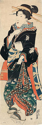 Japan Geisha, C1825 Art Print by Granger