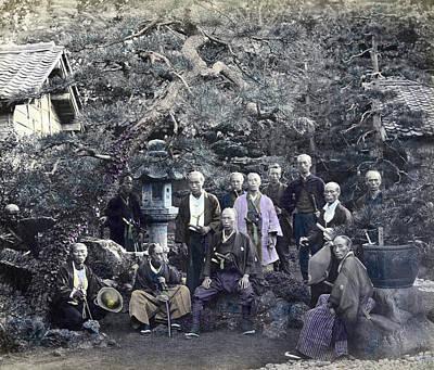 Photograph - Japan Group Portrait, C1866 by Granger