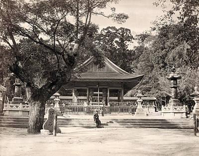 1880s Photograph - Japan Ikuta Shrine, 1880s by Granger