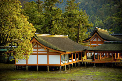Restaurant Photograph - Japan Itsukushima by Sebastian Musial