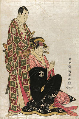 1794 Painting - Japan Kabuki Actors, 1794 by Granger