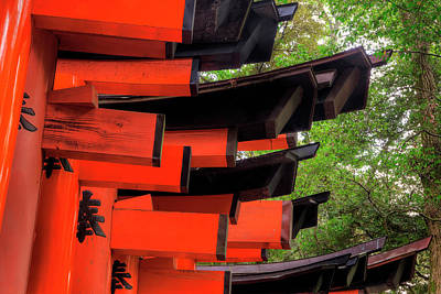 Japan, Kyoto View Of Torii Gates Art Print