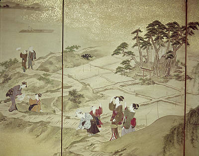 Rice Paddy Painting - Japan Landscape, C1600 by Granger