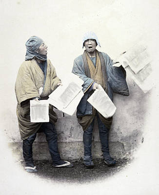 Photograph - Japan News Vendors, C1866 by Granger