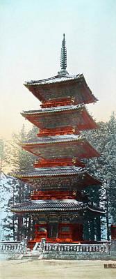 Shinto Temple Photograph - Japan Pagoda, C1900 by Granger
