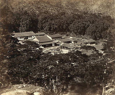 Japan Village Photograph - Japan Rooftops, 1880s by Granger