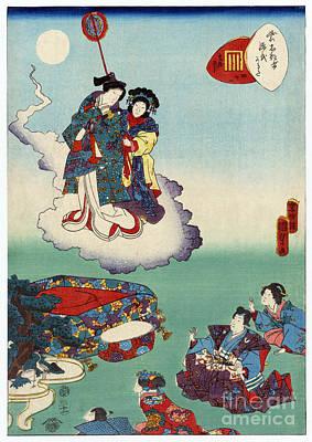 Utagawa Kunisada Photograph - Japan: Tale Of Genji by Granger