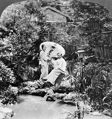 Japanese Tea Garden Painting - Japan Tea Garden, C1906 by Granger