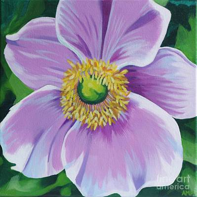 Japanese Anemone Original by Annie Pierson
