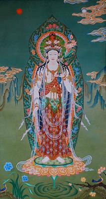 Himalaya Painting - Japanese Avalokiteshvara by Ariyas Thangkas