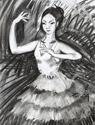 Drawing - Japanese Ballet Girl by Parag Pendharkar