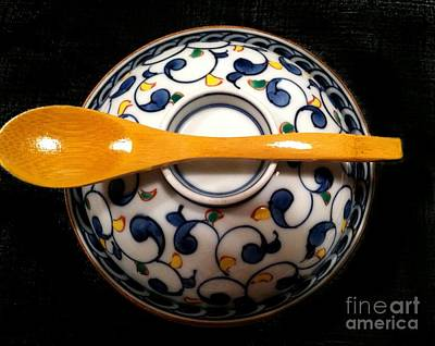 Art Print featuring the photograph Japanese Bowl by Carol Sweetwood