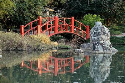 Photograph - Japanese Bridge Front by Maria Urso